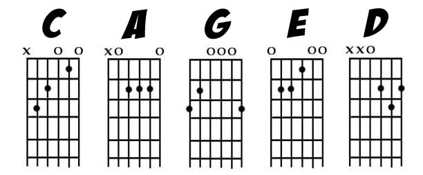 Guitar guitar chords explained : CAGED CHORDS EXPLAINED